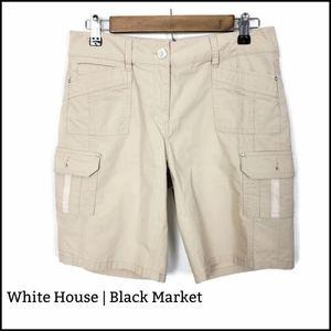 White House   Black Market Khaki Cargo Shorts Sz 4